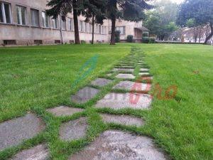 Озеленяване и поливна система пред Медицинска академия