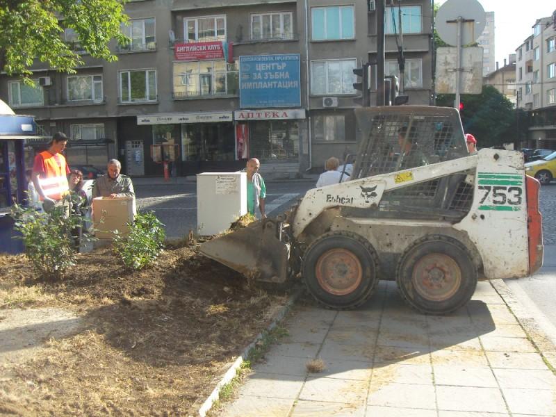 заравняване с хумусна почва